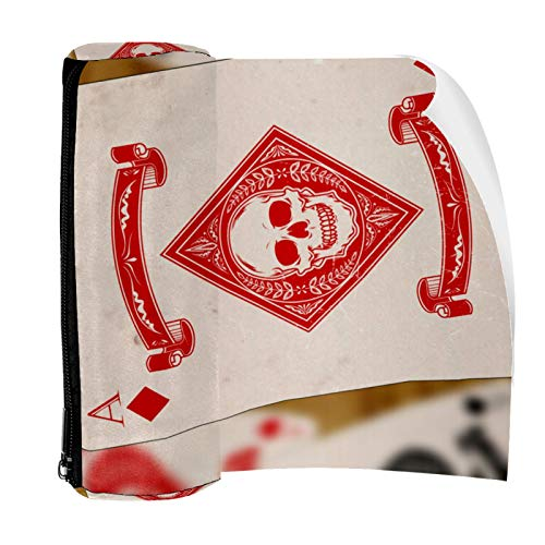Diamond Ace Playing Cards Pencil Case Pouch Bag Cute Pen Zipper Bag for Stationery Travel School Student Supplies