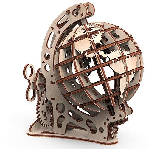 Mr. Playwood 3D Puzzle Globus Holzpuzzle Modellbau Set Denkspiel - DIY Puzzle Lernspielzeug - Holz Modellbausatz - Für Erwachsene & Kinder