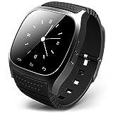STK ブルートゥース 腕時計 ブルートゥースウォッチ スマートウォッチ ハンズフリー通話、時刻表示、置き忘れ通知、着信知らせ、温度計、距離測定 男女兼用腕時計 ブラック