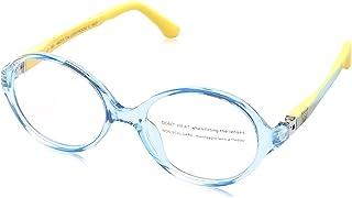 Sponge Bob Oval Lens Contrasting Plastic Medical Glasses for Kids - Light Blue