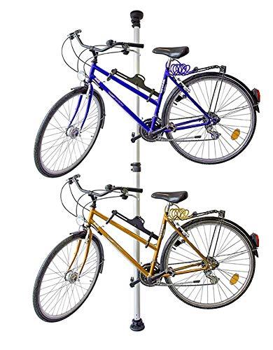 MASLEID Teleskop Fahrradhalterung, für 2 Fahrräder, verstellbar, bis 40 kg, 3,4 m, Silber