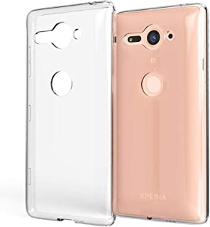 NALIA Case Compatible with Sony Xperia XZ2 Compact, Transparent Back-Cover Ultra-Thin Protective Silicone Soft Skin, Shockproof Crystal Clear Bumper Flexible Slim-Fit Protector Mobile Phone