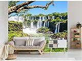 Fotomural Vinilo para Pared Cataratas de Iguazú | Fotomural para Paredes | Mural | Vinilo Decorativo | Varias Medidas 200 x 150 cm | Decoración comedores, Salones, Habitaciones.