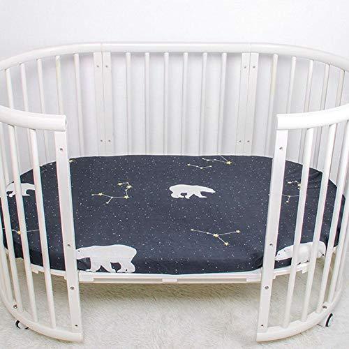 DAUERHAFT Schönes Muster Design Baby Laken Babybettlaken Blatt aus hochwertiger Baumwolle,(Star Bear)