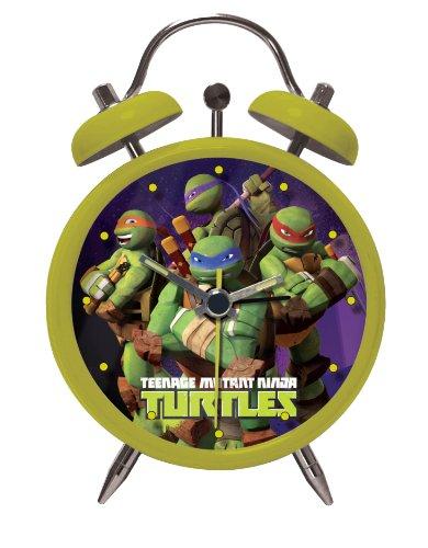 Turtles wekker analoog in geschenkverpakking 8x4x11 cm 01443