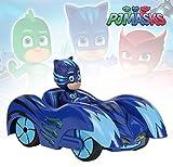 Dickie Toys PJ Masks Mission Racer Cat-Car, Die-Cast Fahrzeug mit Freilauf, Licht & Sound, spielt...