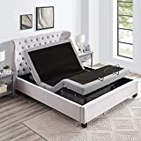 IRVINE HOME COLLECTION Queen Adjustable Bed Base, Zero Gravity, Anti-Snore, Programmable Memory Positions, Full Body Massage, USB, Premium Build