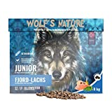 Getreidefreies Trockenfutter für Welpen aus Norwegen - Wolf's Nature Junior Fjord-Lachs (6 kg)