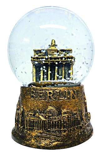 Schneekugel Berlin Brandenburger Tor gold 4,5 cm