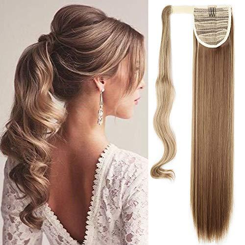 TESS Ponytail Extensions Pferdeschwanz Haarteil Clip in wie Echthaar Haarverlängerung günstig Zopf Extensions Haarteile Glatt 23