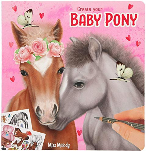 Depesche 10466 Malbuch Create your Baby Pony, Miss Melody, ca. 21 x 20 x 1 cm
