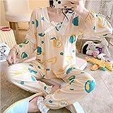 Camisón para mujer, lindo pijamas delgados para mujer en otoño e invierno, -apple_L, conjunto de pijamas para mujer seda