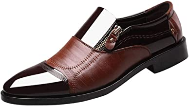 Business Dress Shoes Pointed Head Men Shoes A Pedal Casual Lazy Side Zipper Shoe