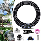 XDDIAS Fan Misting Kit for Outdoor Misting Cooling System with 19.67FT (6M) Misting Line+6 Nozzle+A Faucet Adapter DIY Cool Patio Breeze Misters Fan for Any Outdoor Fans