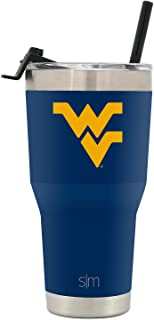Simple Modern NBA & NCAA 30oz Cruiser Tumblers with Closing Lid and Straw - 18/8 Stainless Steel Vacuum Insulated Travel Mug