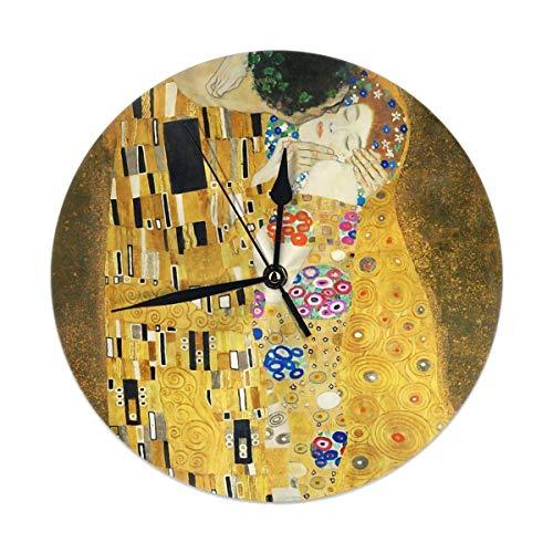 gardenia store Il Bacio di Klimt Rotonda Orologio da Parete Home Decor 9.84'