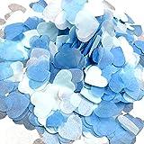 Ruiting Confeti Corazón,Confeti de Papel en Forma de Corazón Confeti Colorido Decoración de Fiestas Bodas y San Valentín (Azul)
