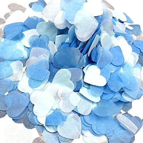 Ruiting Konfetti Herz Papier 2,5mm deko für Party Valentinstag Hochzeit Festival Event Karneval Blau & Weiß 15g/Set