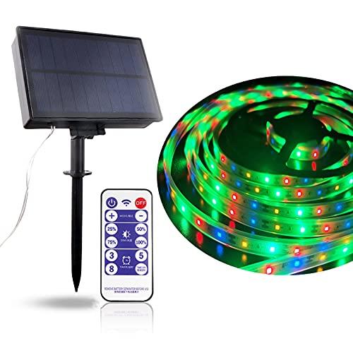 Tira LED Solar, Tiras de Luces 5M Impermeable IP67 Luces LED con 2 Modos Strip Light para Navidad Fiestas Bodas Jardines Festivales Habitacion, Bar, Restaurante Decorativas