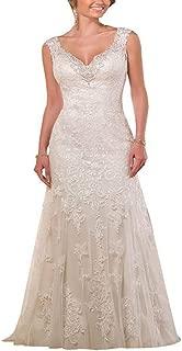 Unbranded* Yipeisha Sweetheart Neckline Lace Tulle Over Satin Wedding Dress