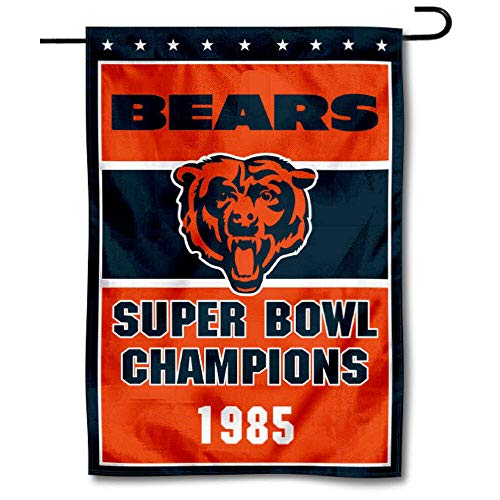 WinCraft Chicago Bears 1985 Super Bowl Champions Double Sided Garden Flag