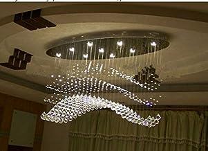 GOWE Newest Design Streamlined Oval LED WaveTop K9 Crystal Chandelier Lighting Fixture