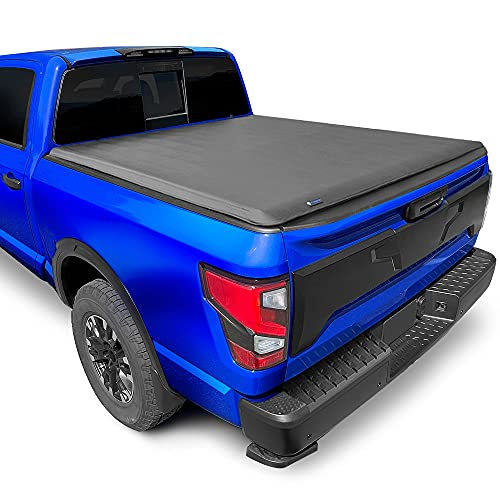Tyger Auto T1 Soft Roll Up Truck Bed Tonneau Cover for 2004-2015 Nissan Titan without Titan Box Fleetside 5.5' Bed TG-BC1N9032 , Black