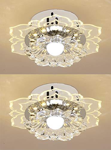 Par De LED Pasillo Plafones Iluminación Semi-Empotrado Lámpara De Techo Flor Vaso Moderno Acrílico para Cocina Sala Comedor Dormitorio Escalera Estudiar Balcón 9W