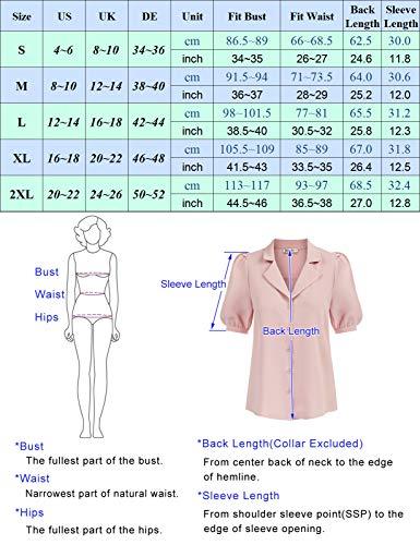 Blusa Viscosa para Mujer Manga Corta Informal Oficina Elegante Retro Camisa Cl0094S21-2