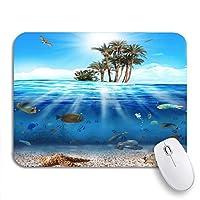 NINEHASA 可愛いマウスパッド ブルーライフ水中シーン魚と貝殻カラフルな海滑り止めゴムバッキングコンピューターマウスパッドノートブックマウスマット