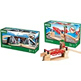 BRIO World - 33391 Collapsing Bridge   3 Piece Toy Train Accessory for Kids Age 3 and Up & 33757 Lifting Bridge   Toy Train Accessory with Wooden Track for Kids Age 3 and Up