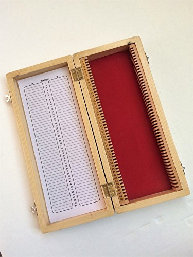 Yantra Holz-Mikroskop-Box, Aufbewahrungsbox für 50 Dias