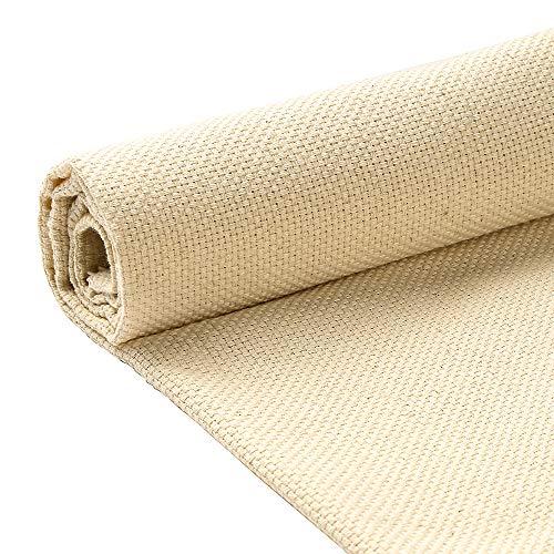 Pllieay Punch Needle Cloth Fabric Needlework Fabric for Punch Needle Embroidery Rug-Punch & Pinch Needle, 26.4 x 19.3 Inch