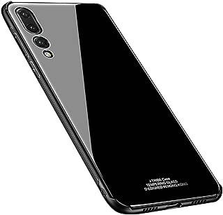Kepuch Quartz Huawei P20 Pro ケース - TPU + 強化ガラス バック カバー 試合 Huawei P20 Pro - 黒