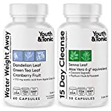Thin Waistline & Slender Body | Fast Waste Loss & Water Retention Weight Away for Belly Bloating | Natural Diuretic & Laxative Colon Cleanser Pills | Detox Cleanse for Energy or to Break The Plateau