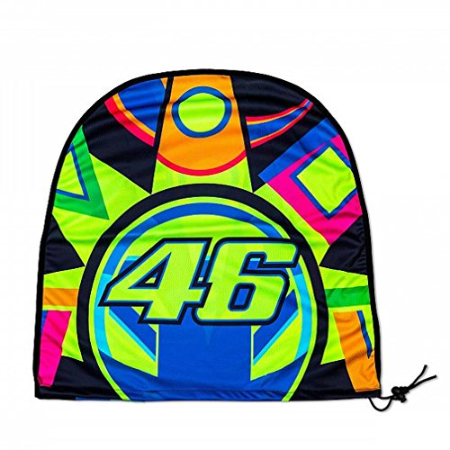 VR46 Sun and Moon - Portacasco Impermeable, Multicolor