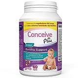 Conceive Plus Donna Fertility Support, Vitamine per aiutare gli aiuti per il concepimento, | Scorta di 30 giorni, 60 Capsule + Acido Folico + Nutrienti Chiave