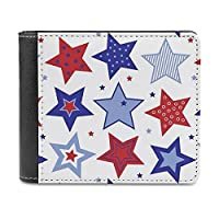 レディース 財布 星のパターン-2 二つ折り PUレザー ミニ財布 薄い 軽量 コンパクト 小さい財布 ビジネス 人気 誕生日 ギフト 男女兼用