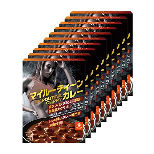 マイルーティーン プロテインカレー 180g 甘口 10食セット タンパク質36.8g トレーニー向け食品