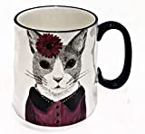 Hipster Animal Stoneware Coffee Mugs by Signature | CAT LOVER
