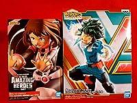 僕のヒーローアカデミア フィギュア 2種 ヒロアカ 緑谷出久 麗日お茶子 AMAZING HEROES ヒーローズ:ライジング
