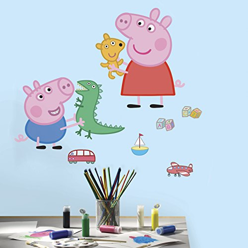 RoomMates Peppa The Pig Peppa and George Playtime - Adhesivos gigantes para pared