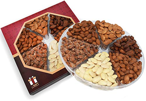 Assorted Almonds Gift Box - EVA'S GIFT UNIVERSE - Gourmet Gift Basket, Fresh Healthy Almond Nuts Tray Assortment