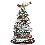 Pegatinas para ventanas 2022 Nuevo árbol de Navidad Invierno Decoración para el hogar Escultura giratoria Decoraciones para trenes Pegar Pegatinas para pegar para ventanas Decoración navideña