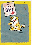 Geburtstagskarte Sorry zu spät Katze