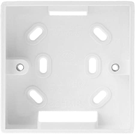 Soporte para la caja de conexiones para el control del termostato, anclaje sobre pared (86 mm x 86mm)