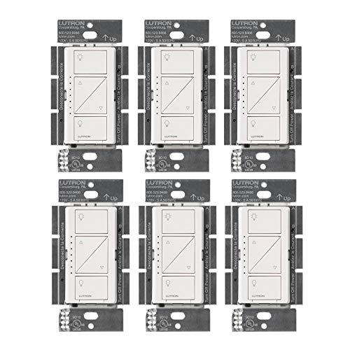 Lutron PD-6WCL-WH Caseta - Regulador de intensidad de luz inalámbrico, color blanco