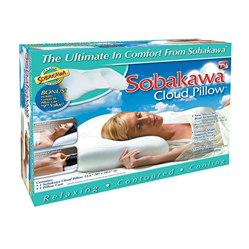 Sobakawa Cloud Cool micro bead Bed Pillow AS SEEN ON TV NEW Most Watched