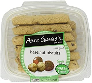 Aunt Gussie's Sugar Free Hazelnut Biscotti, 8-Ounce Tubs (Pack of 4) by Aunt Gussie's