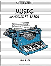 Blank Sheet Music Notebook music books for guitar with chords: Creative writing machine: 6 Large Staves Per Page (8.5